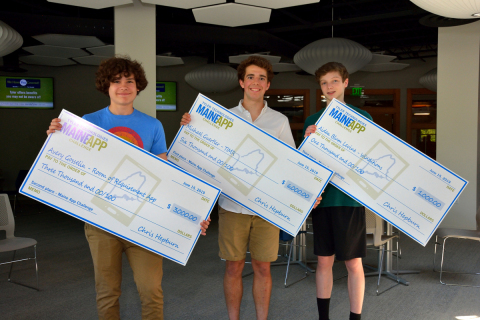 Three winners of Tyler Technologies' Maine App Challenge are awarded $10,000 in college scholarships. (Photo: Business Wire)