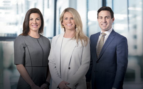 Evans May Wealth managing partners. From left: Brooke V. May, CFP®; Elizabeth E. Evans, CFP®; and Ian J. Flanagan. (Photo: Business Wire)