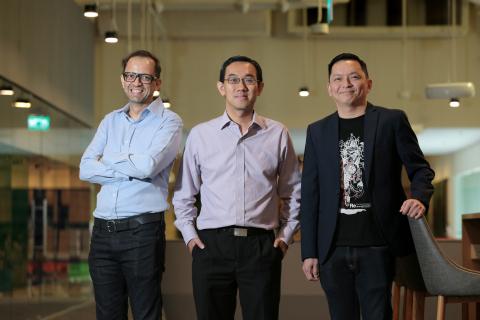 (L-R): CEO LumenLab Zia Zaman; SPH Chief of Digital Business Julian Tan; NTUC Income Chief Operating ...