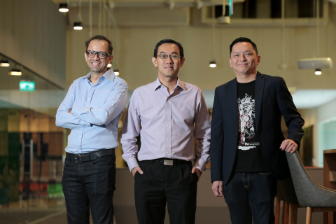 (L-R): CEO LumenLab Zia Zaman; SPH Chief of Digital Business Julian Tan; NTUC Income Chief Operating Officer Peter Tay, at SPH News Centre on June 10, 2019. Singapore Press Holdings (SPH), NTUC Income (Income) and LumenLab, MetLife's Asia innovation centre, are embarking on an industry-first collaboration to simplify the life insurance claims process for bereaved families. When a death occurs, placing an obituary is one of the first tasks handled by family members, while more involved tasks like discovering if the deceased has valid life insurance policies and making claims are put on the backburner. Since these tasks require the same information about the deceased person, SPH, Income and LumenLab see an opportunity to use blockchain technology to automate the life insurance claim verification process for these families. (ST PHOTO: JASON QUAH)