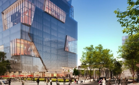 One uCity Square rendering [© ATCHAIN] (Graphic: Business Wire)