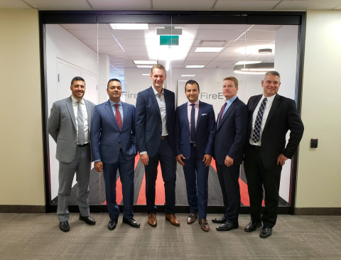 FireEye Toronto office leadership team – listed left to right – Mike Persechini, Oomesh Patel, Val Pipenko, Ali Arasteh, Kevin Mandia, Greg Davison (Photo: Business Wire)
