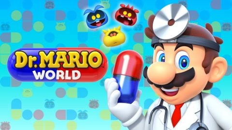 Players can pre-register now to be one of the first to be notified when Nintendo's newest mobile game, Dr. Mario World, launches for iOS and Android devices on July 10. (Graphic: Business Wire)