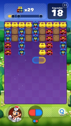 In Dr. Mario World, meddlesome viruses have the world in a panic, and Dr. Mario and friends are tasked with eliminating them by matching capsules with viruses of the same color. (Graphic: Business Wire)