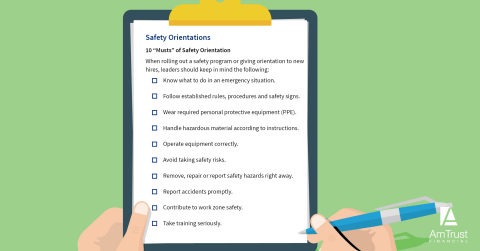 The 10 'Musts' of Safety Orientation Programs (Graphic: Business Wire)