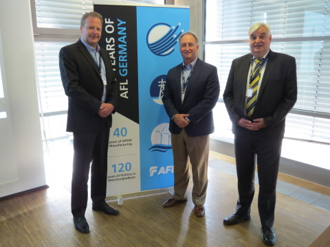Pictured from left: Markus Philipp, Managing Director, AFL Germany; Kurt: Professor Dr.-Ing. Albert Moser of RWTH Aachen University (Photo: Business Wire)