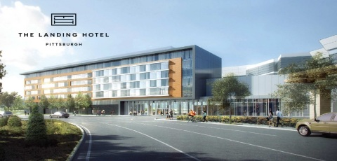 """Rivers Casino Pittsburgh announced today that it will break ground on a $60 million North Shore hotel later this summer. """"The Landing Hotel Pittsburgh"""" will be built by Pittsburgh-based Massaro Construction Group. (Photo: Business Wire)"""