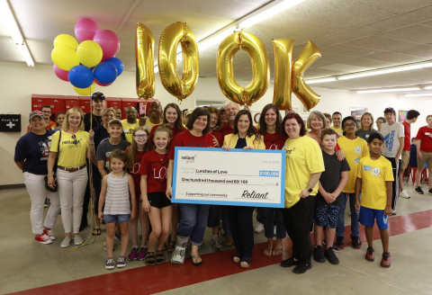 Reliant presented Lunches of Love with the $100,000 top prize as part of its Reliant Gives Vote campaign. (Photo: Business Wire)