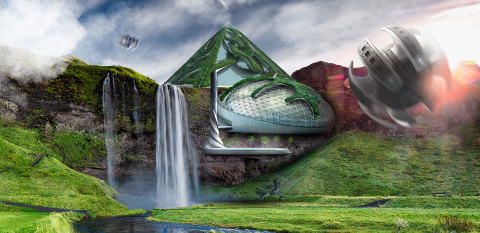 Autonomous shooting travel pods will drop guests off at mesmerising destinations, while miniature ec ...