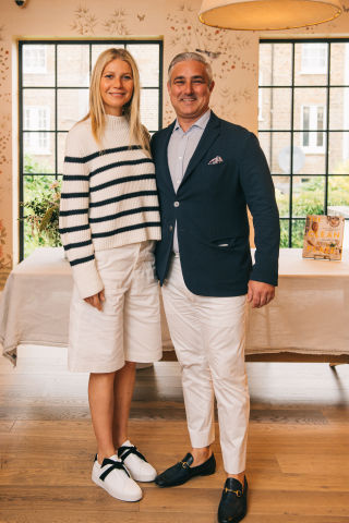 Flow co-founder celebrates the launch of UK campaign with Gwyneth Paltrow (Photo: Flow)