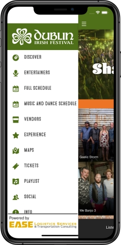 With more than 100,000 guests visiting Dublin, Ohio, USA for the Dublin Irish Festival, App filters will offer immediate access to frequently requested services such as food vendors; restrooms; merchandise; marketplace vendors, etc., enhancing guest experience and decreasing wait-times. (Photo: Business Wire)