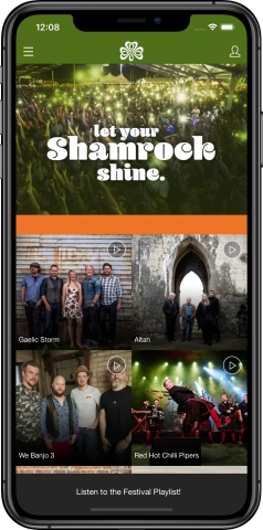 The Dublin Irish Festival Mobile App features customized branding that provides real-time information including: stage schedules; performers' bios; maps; calendars; push notifications, and more! Download the free App at www.DublinIrishFestival.org/Connect. (Photo: Business Wire)