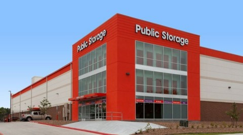 Public Storage has grown by 10% in Houston over the last year, including rebuilding seven locations damaged by Hurricane Harvey in 2017. This property, Public Storage 8555 Larkwood Drive, Houston, TX 77074, is a good example of a Reagan-era storage facility transformed by this effort, from 364 units to more than 1,400 units, all rebuilt from the ground up. (Photo: Business Wire)