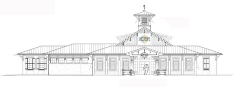 Preliminary design of the Latitude Margaritaville Watersound Sales Center (Photo: Business Wire)