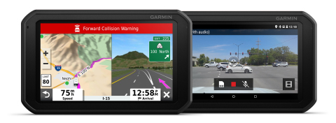 The new Garmin RV 785 GPS navigator adds a built-in dash camera for RV and camping enthusiasts. (Photo: Business Wire)