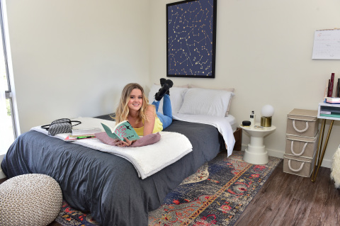 Amazon teamed up with Ava Phillippe to outfit her dorm room with the latest picks from Amazon Home, Devices and more. (Photo: Business Wire)