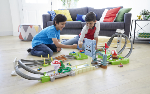 Three Hot Wheels Mario Kart game-inspired track sets will be available this summer. (Photo: Business Wire)
