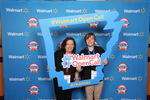 Mother-daughter team from Magic Ninja Dust arrives in Bentonville, AR eager to pitch their product to a Walmart buyer. (Photo: Business Wire)