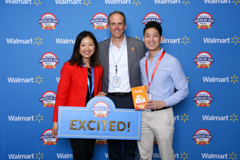 "Representatives from Sweety Ice Cream with Walmart's Chief Merchandising Officer Steve Bratspies after getting an ""on the spot"" deal during the opening session of 2019 Open Call. (Photo: Business Wire)"