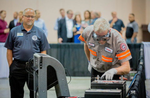 The 2019 Ryder Top Technician, Ken Bilyea, during the competition at the Indiana Convention Center in Indianapolis. (Photo: Business Wire)