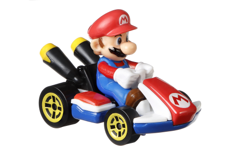 The Hot Wheels Mario Kart Replica Die-cast assortment will include Mario, Yoshi, Luigi and Bowser with many more characters coming soon. (Photo: Business Wire)