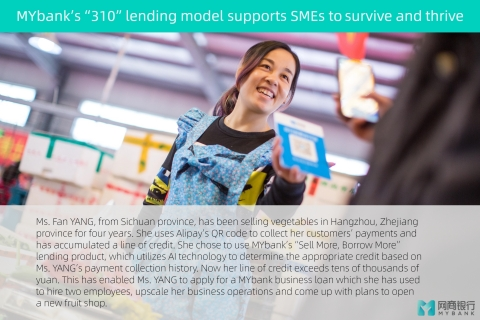 MYbank's 310 lending model supports SMEs to survive and thrive (Photo: Business Wire)