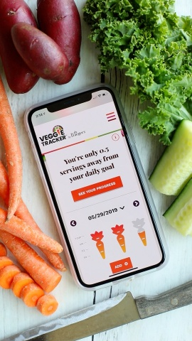 Veggie Tracker is a free online tool to check your intake, get inspired, track your progress and live a healthier, veggie-full life. Learn more and sign-up today at www.veggietracker.com. (Photo: Business Wire)
