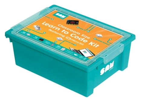 The new SAM Labs Learn to Code Course Kit for grades 4-8 is a block-based coding curriculum that integrates with micro:bit and Workbench. (Photo: Business Wire)