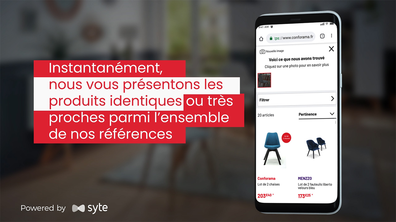 French retailer, Conforama, selects Syte to power their visual search.