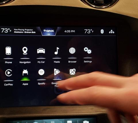 Connected Car UI (Photo: Business Wire)