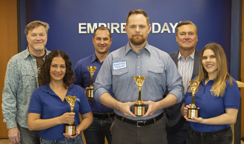 Empire Today® Wins a Prestigious Gold Davey Award (Photo: Business Wire)