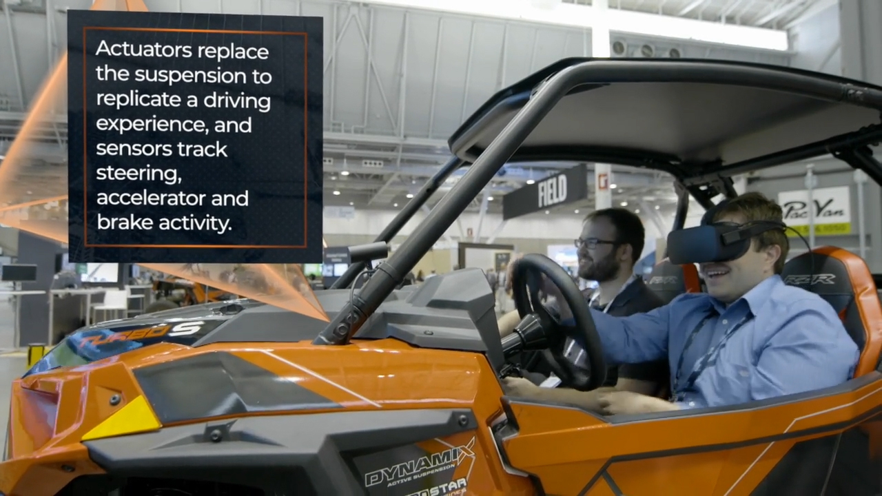 The Xtropolis floor at LiveWorx 2019 brought the digital transformation story to life with interactive examples, including the Polaris RZR experience.