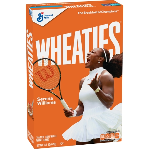 Serena Williams, one of the world's top and most decorated tennis players, will be the next athlete to adorn the cover of Wheaties iconic orange box. (Photo: Business Wire)