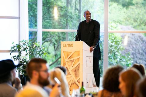 Kaddu Sebunya, CEO of The African Wildlife Foundation, Speaks at EarthX (Photo: Business Wire)