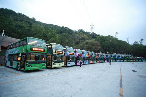 Electric bus fleet of Shenzhen Bus Group (Photo: Business Wire)