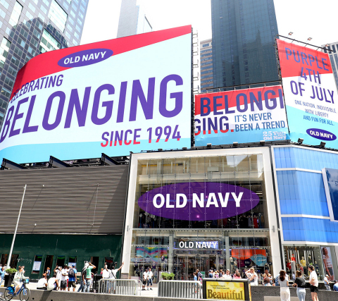Old Navy Celebrates 25 Years of Belonging With Plans for a Purple 4th of July (Photo: Business Wire)