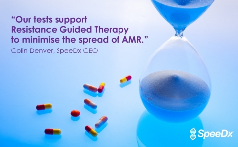 """""""SpeeDx has a demonstrated commitment to improve patient care, and our tests currently used in clinical practice are supporting Resistance Guided Therapy, positively impacting cure rates and helping to minimise the spread of antimicrobial resistant infections."""" Colin Denver, SpeeDx CEO. (Photo: Business Wire)"""