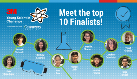 Meet the 2019 3M Young Scientist Challenge Finalists. (Image Credit: 3M)