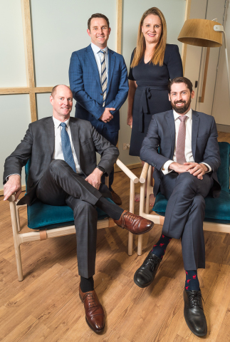 From L-R: Accenture Global Defence lead, Matthew Gollings , BCT Director Patrick Batch, Catherine Garner, Accenture's Health & Public Service lead for Australia and New Zealand, and Angus Heatley, BCT Director (Photo: Business Wire)