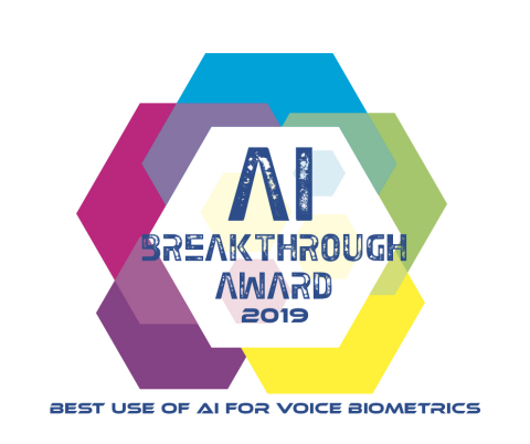 Behavox Wins Best Use of AI for Voice Biometrics in 2019 Artificial Intelligence Breakthrough Awards (Graphic: Business Wire)