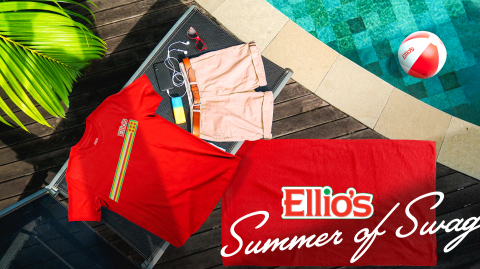 Ellio's, a favorite American brand serving up iconic, rectangular pizza slices since 1963, recently launched its first online store, Ellio's Coolectables, and kicked off the Summer of Swag. (Photo: Business Wire)