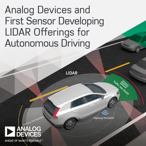 Analog Devices and First Sensor Developing LIDAR Offerings to Accelerate the Future of Autonomous Driving (Photo: Business Wire)