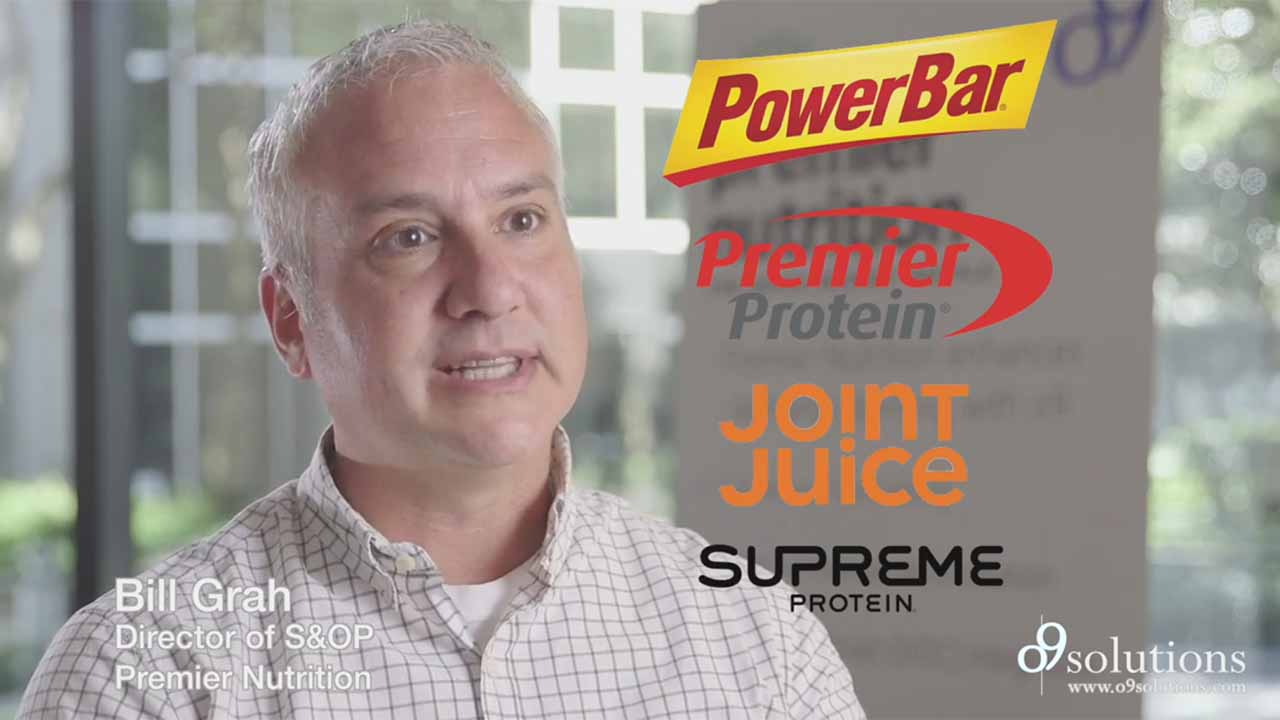 Premier Nutrition Corporation's Director of S&OP Bill Grah discusses his experience with o9 Solutions, the premier AI-platform for Integrated Planning and Digital Operations