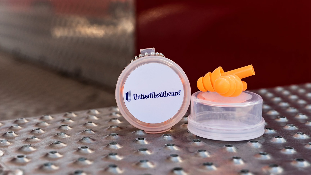 Firefighters with the Minneapolis Fire Department received reusable earplugs as part of a public awareness campaign about hearing health from UnitedHealthcare, which is donating 20,000 silicone-based earplugs to first responders across the country (Source: UnitedHealthcare).