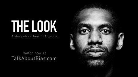 """""""The Look,"""" a film highlighting bias as experienced by many Black men in America, is available beginning today together with educational resources at www.talkaboutbias.com. (Photo: Business Wire)"""
