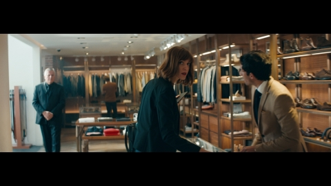 """""""The Look"""" follows a Black man throughout his day as he encounters a variety of 'looks' that symbolize a barrier to acceptance. In the film, workers in a department store watch him with suspicion as he shops. (Photo: Business Wire)"""