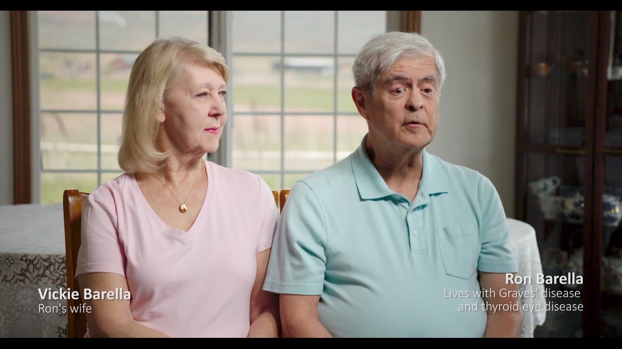 Ron describes his experience with Graves' disease and thyroid eye disease.