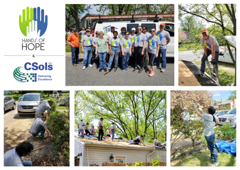 CSols, Inc. team members working on the Hands of Hope house. (Photo: Business Wire)