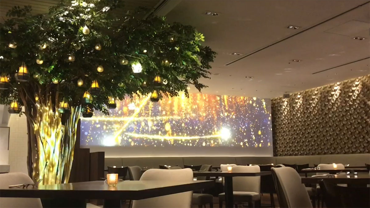 Video of projection mapping and lightshow offered at our All Day Dining Jurin until September 30, 2019.