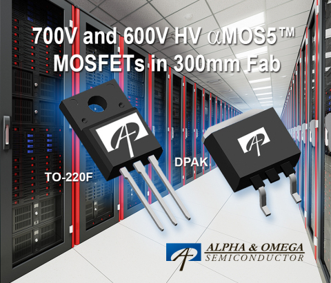 700V and 600V αMOS5™ Super Junction MOSFETs (Photo: Business Wire)